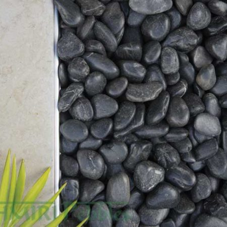 Kashmiri Polished Black Pebbles