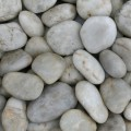 pebble, white pebble, garden pebble