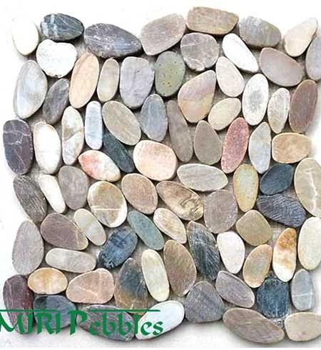 Kashmiri Cut Mixed Mosaic Pebble Tiles