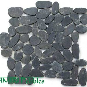 Kashmiri Cut Black Mosaic Pebble Tiles