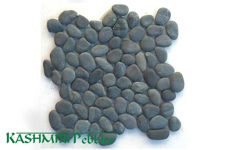 Kashmiri Sino Black Mosaic Pebble Tile