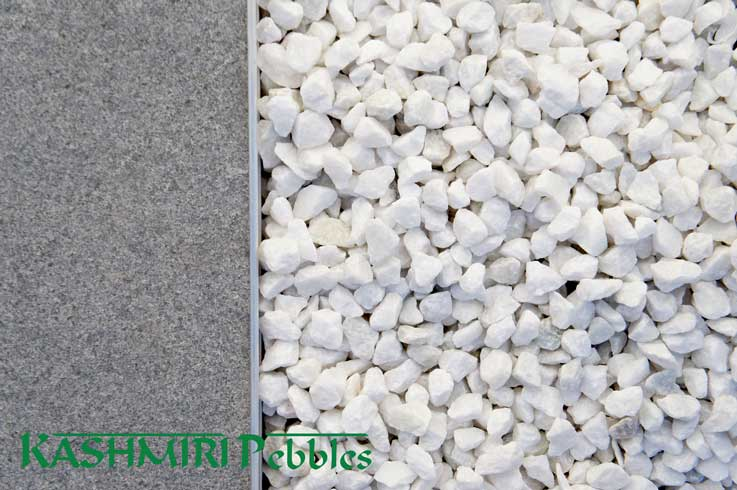Crushed White Gravel Polished Pebbles Decorative