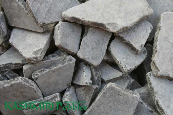 Kashmiri Natural Dark Grey Mosaic Pebble