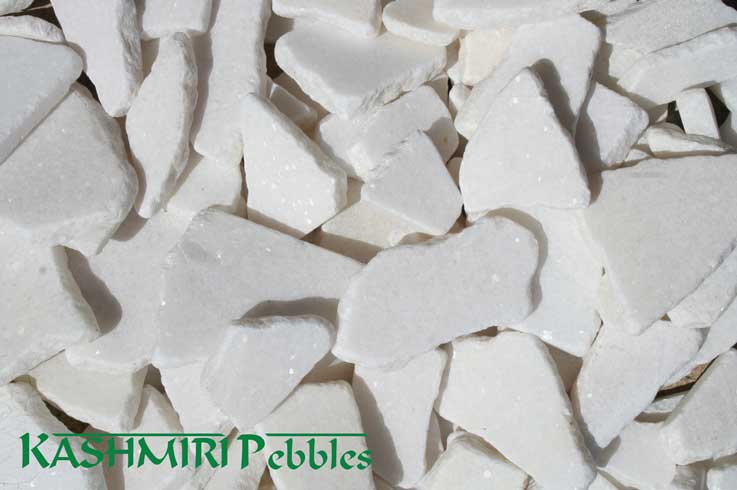 Kashmiri Natural White Mosaic Pebble